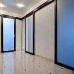 Двери межкомнатные стеклянные раздвижные.