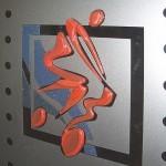 Элемент декора стеклянной двери (фьюзинг).
