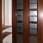 Дверь стеклянная матовая с рисунком офисная.