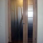 Дверь межкомнатная стеклянная с рисунком.