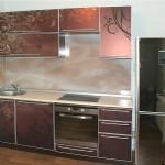 Кухонный фартук из стекла с рисунком.