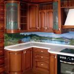 Кухонный фартук из стекла с полноценной фотопечатью.