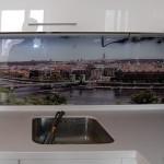 Фартук кухонный стеклянный с фотографией.