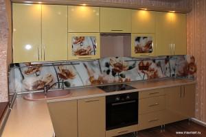 Фото s12-261, мастерская Артель - стеклянный фартук; изготовитель кухни - ИП Зайцев Е.И.
