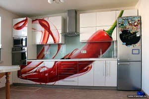 Фото s12-263, мастерская Артель - стеклянный фартук и фасады МДФ; изготовитель кухни - ИП Зайцев Е.И.