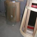 Гнутое стекло для кухонных фасадов.