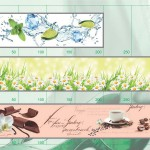 Каталог рисунков для стеклянных кухонных фартуков.