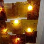 Светильник потолочный в технологии фьюзинг.