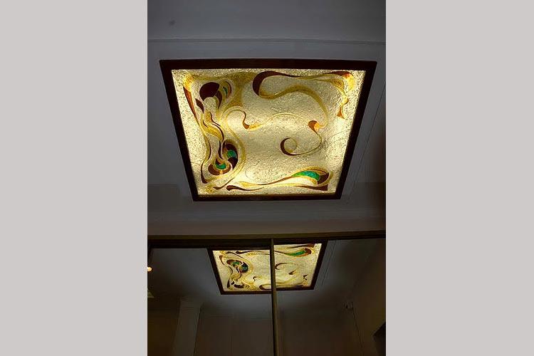 Потолочный светильник (фьюзинг).