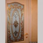 Накладной витраж с бевелсами - вставка в межкомнатные двери.