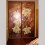 Шкаф-купе с декор стеклами в дверях (полноцветная фотопечать).