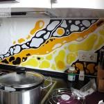 Кухонный фартук в технологии фьюзинг. Очень эстетично!