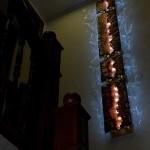 Настенный светильник из стекла-фьюзинг.