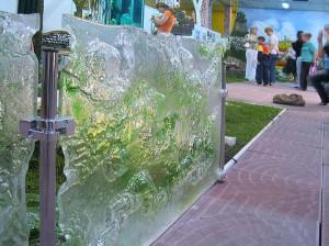 Фото ASS-046  Декоративное стеклянное ограждение в технологии Фьюзинг