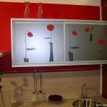 Красивое стекло для мебельных фасадов.