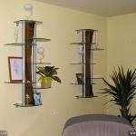 Оригинальные стеклянные полочки для вашего дома.