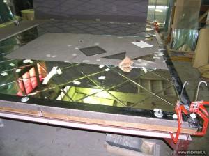 фото s08-272; Изготовление зеркального панно из фацетированных элементов.
