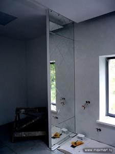 фото s08-276; Графика на зеркале выполнена по технологии Алмазная грань.