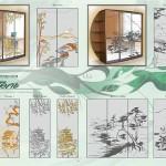 """Рисунки для декорирования стекла и зеркал от мастерской """"Артель""""."""