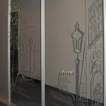 Пескоструйный рисунок на зеркалах для шкафов-купе.