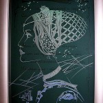Сувенир. Пескоструйный портрет на стекла с подсветкой.