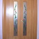 Декорированное стекло для дверных полотен.