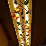 Потолочный витраж из декорированного оргстекла.