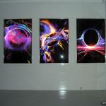 фото v05-027 Витраж выполнен методом фотопечати. За стеклом установлен свет.
