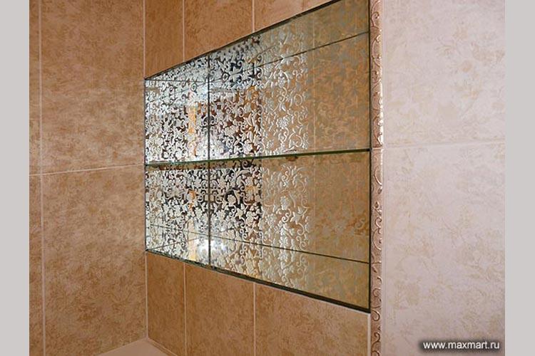 Зеркальные полочки для ванной комнаты.