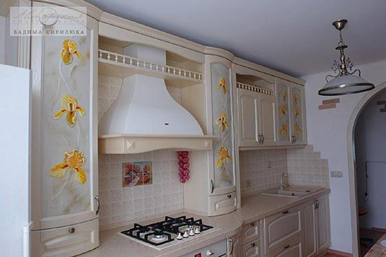 Красивое стекло для кухонных фасадов (фьюзинг).